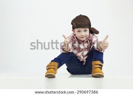 fashionable little boy.stylish kid in suit. fashion children.funny child - stock photo