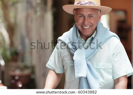Fashionable man smiling