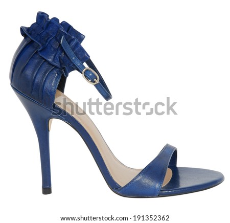 fashionable women's shoes isolated on white - stock photo