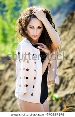 Fashionable young attractive and sensuality woman