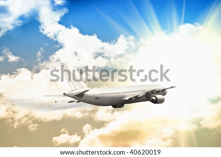 Fast airplane - stock photo