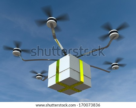 Fast delivery post package for adv or others purpose use - stock photo