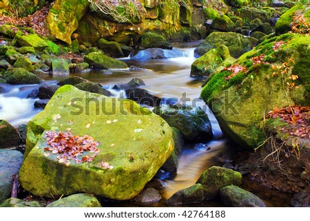 fast flowing stream - stock photo