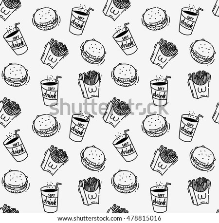 Fast food seamless background