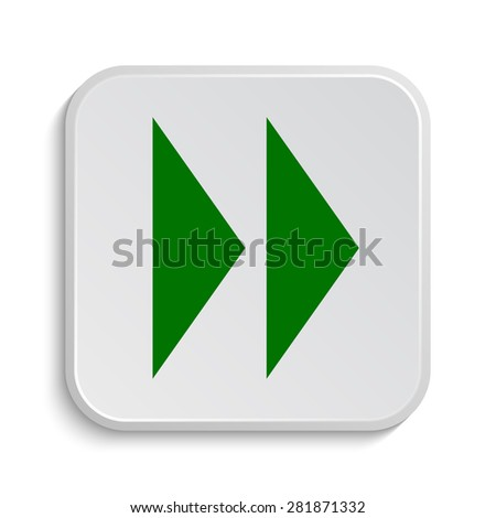 Fast forward sign icon. Internet button on white background.