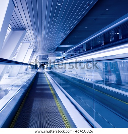 fast moving escalator by motion