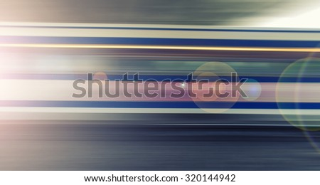 fast train passing by,speed motion blur background - stock photo