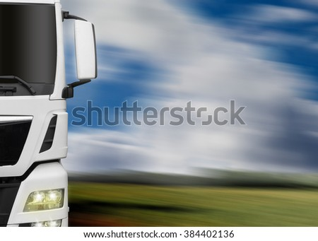 fast truck - stock photo