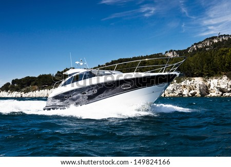 Fast yacht - stock photo