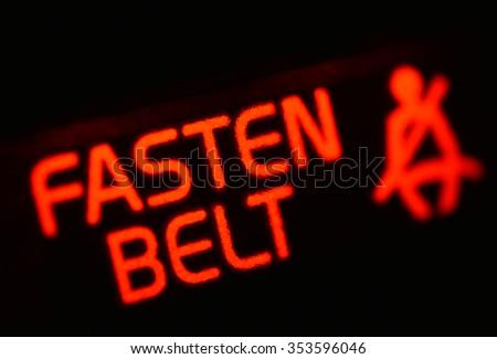 Fasten belt sign - stock photo