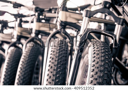 Fat bike - stock photo