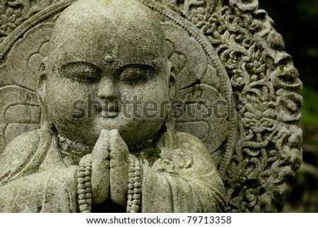 Fat Buddha statue - stock photo