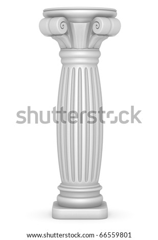 Fat Greek Pillar Illustration