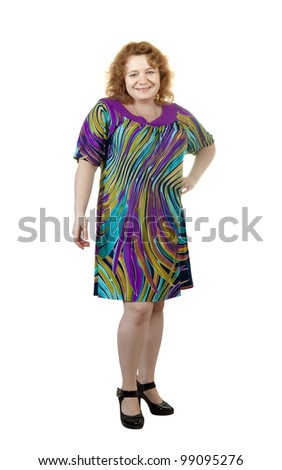 fat ugly woman. Isolated over white background