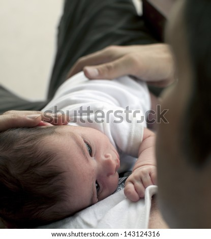 Father and baby - stock photo