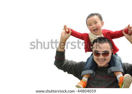 Father and son affection - stock photo