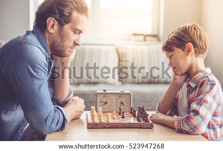 Family Playing Together Clipart Father Son Playing Che...