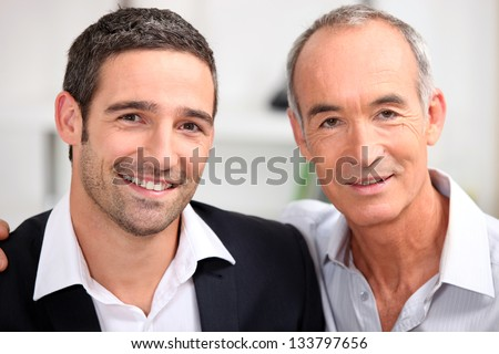 Father and son business team - stock photo
