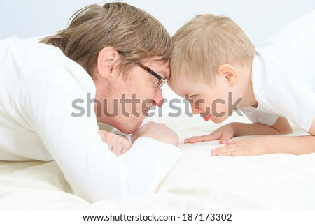 father and son conflict - stock photo