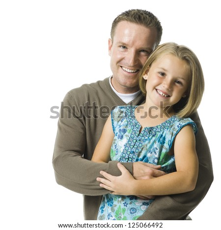 Father and young daughter. - stock photo