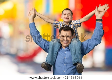 Father, Family, Son. - stock photo