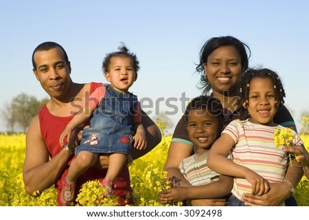 Father, mother and children - stock photo