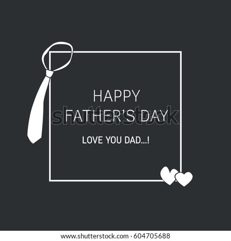 Fathers day card greetings illustration love stock illustration fathers day card greetings illustration love you dad masculine simple clean m4hsunfo