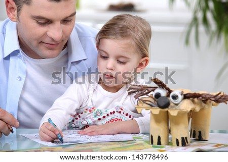 father spending time with his little girl