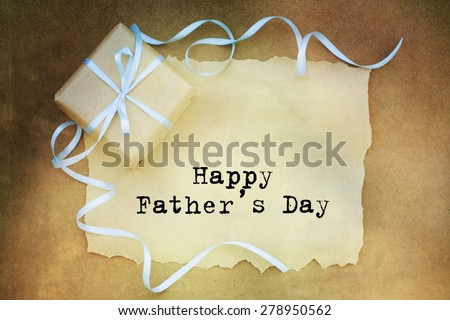 Fathers day gift - stock photo