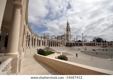 Fatima Sanctuary place of faith in Portugal - stock photo
