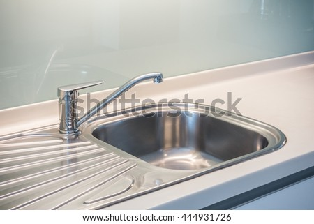 faucet sink and water tab decoration in kitchen room interior - Sink In Kitchen