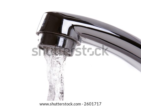 faucet water - stock photo