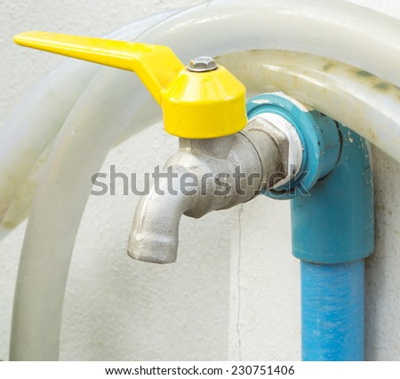 faucet with rubber tube