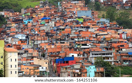 Favela near the city of Sao Paulo