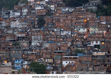 Favella, Rio de Janeiro - stock photo
