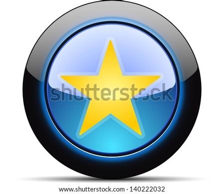 Favorite star button - stock photo