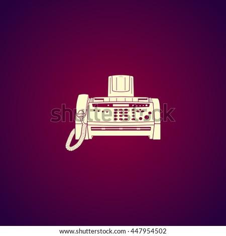Fax machine icon,  - stock photo