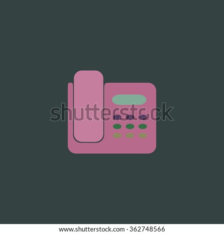 Fax machine. Simple flat color icon on colorful background - stock photo