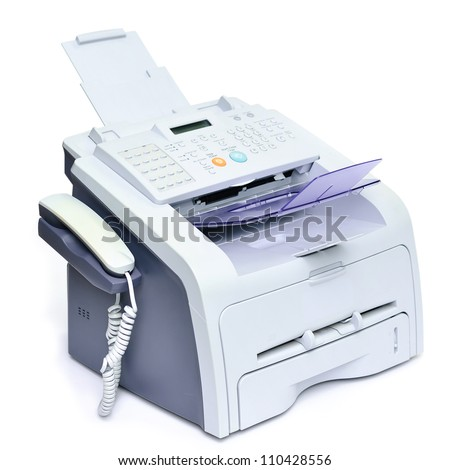Fax, Scanner, Printer machine into all in one office equipment - stock photo