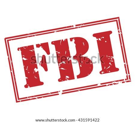 fbi stamp - stock photo