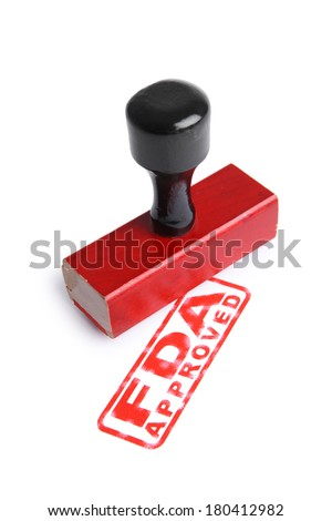 FDA APPROVED Rubber Stamp - stock photo