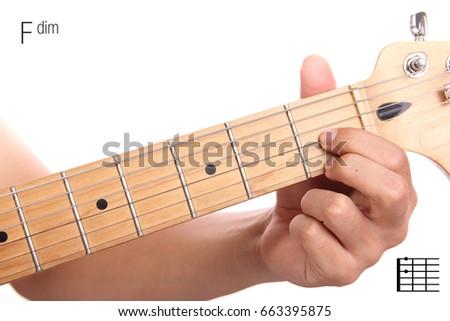 Fdim Advanced Guitar Keys Series Closeup Stock Photo (Royalty Free ...