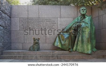 FDR memorial Washington DC - stock photo