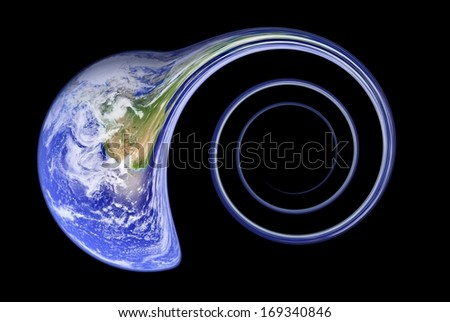 Fear of Large Hadron Collider. Elements of this image furnished by NASA - stock photo