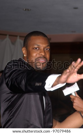 Feb 12, 2005; Beverly Hills, CA: Actor/comedian CHRIS TUCKER at record mogul Clive Davis' annual pre-Grammy party at the Beverly Hills Hotel.