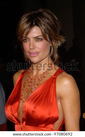 Feb 14, 2005; Los Angeles, CA: Actress LISA RINNA at the world premiere of Be Cool, at the Grauman's Chinese Theatre, Hollywood.