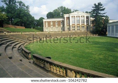 FEBRUARY 2005 - Amphitheatre at University of Virginia, Charlottesville, VA - stock photo