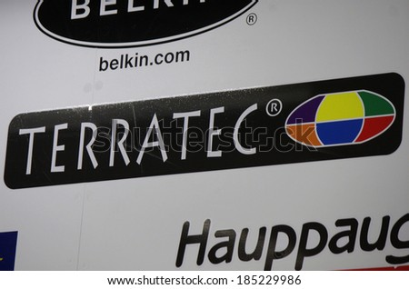 "FEBRUARY 26, 2014 - BERLIN: the logo of the brand ""Terratec"", Berlin."
