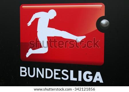 "FEBRUARY 2015 - BERLIN: the logo of the German football league ""Bundesliga"", Berlin. - stock photo"