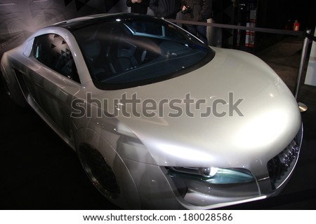 FEBRUARY 8, 2014 - BERLIN: the prototype of a new Audi electric sports car, Berlin.